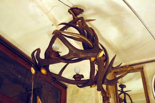 Castellani cortona antiques lampadario con corna di cervo